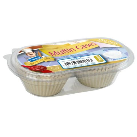 Muffin Cases 7x7cm Love To Cook Kingfisher Catering (150 Pack)